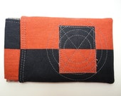 iPhone Pouch, Flex-Frame 5-inch Gadget Pouch, Orange & Black Colorblock, Bullseye, Ready To Ship