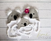 WARM Fuzzy Koala Hat with Earflaps