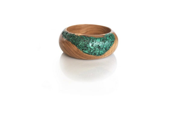 Malachite Olivewood Bracelet