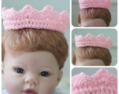 Newborn Photography Prop High Crown Pink
