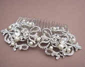 Wedding hair comb pearl Wedding hair accessory Bridal hair comb vintage style Wedding hair piece Bridal headpiece Wedding Headpiece Bridal