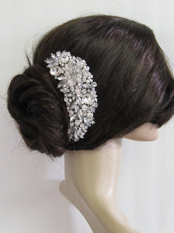 Wedding pearl hari comb, bridal hair comb, large crystal hair comb, bridal hair accessories, wedding hair comb pearl ,hair comb bridal