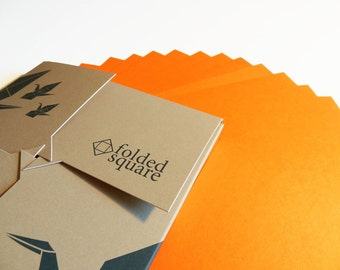 Orange Origami Paper 100 sheet gift set - Pantone Orange 021