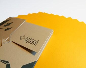 Yellow Origami Paper 100 sheet gift set - Pantone Yellow 116