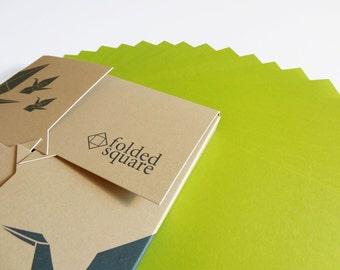 Green Origami Paper 100 sheet gift set - Pantone Green 390