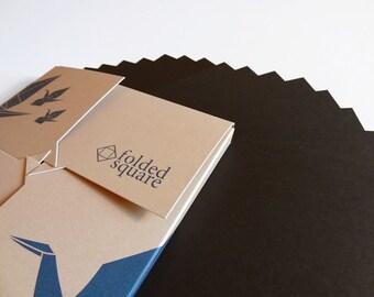 Black Origami Paper - 100 sheet gift set Pantone Black