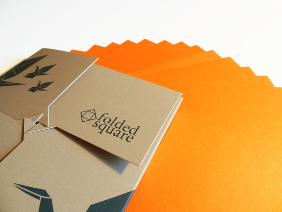 Orange Origami Paper 100 sheet gift set - Pantone Orange 021