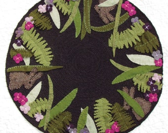PATTERN - Nature's Hiding Place - Candle Mat