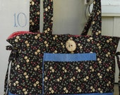 Cherries and Denim Tote Bag/Purse