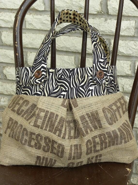 Burlap Bag/Tote/Purse