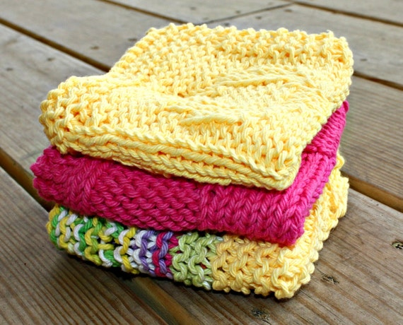 Buy 2 Get One Free Cotton Dish Rags