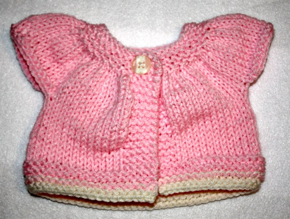"12""-15"" Doll Sweater Hand Knit"