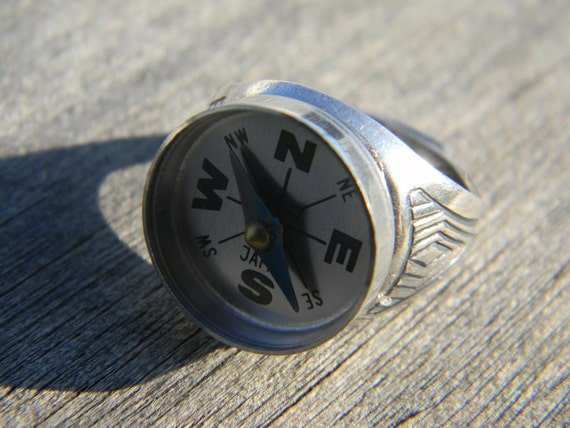 Daddy won't get lost anymore. Compass Ring, for adventurous people