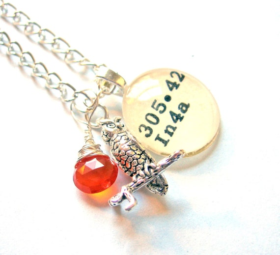 Owl and Orange Carnelian AAA Grade and Sterling Silver Owl Dewey Decimal XL Necklace