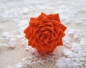 Orange DuctTape Rose Ring
