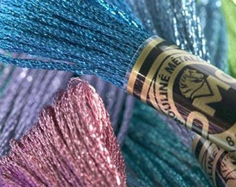 DMC Light Effect Floss - Metallic, Gold, Silver, Jewel Tones, Pearlescent, Glow-in-the-Dark and more