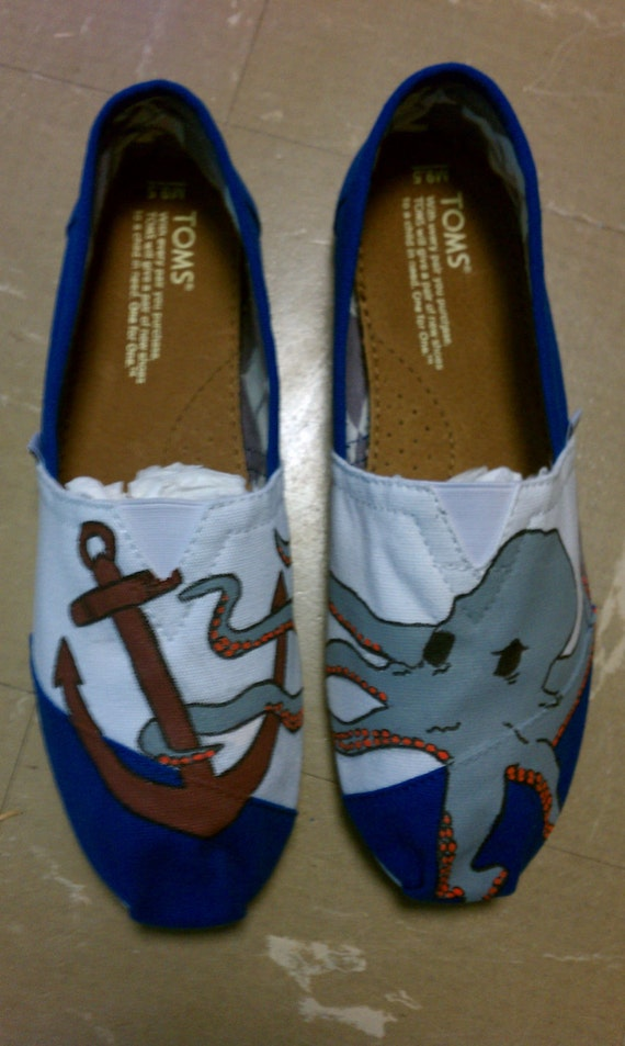 Custom Hand Painted Octopus TOMS