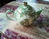 SALE Miniature Green Teapot