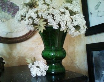 Emerald Green Urn Vase