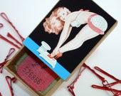 Weighing Scales PinUp Retro Style Bobby Pin Box With Pins