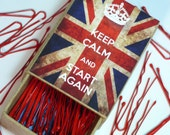 Keep Calm And Start Again Positive Hair Pin Box with Pins