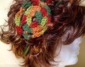 Rainbow Flower Headband