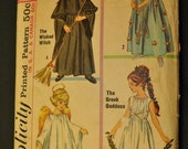 Child's Witch, Fairy, Goddess, and Angel Costumes Size Small Vintage 1960s Sewing Pattern-Simplicity 6201