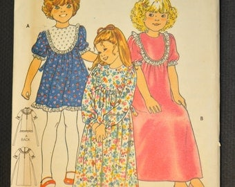Girl's Dress Size 5 Uncut Vintage 1970s Sewing Pattern- Butterick 5690