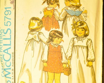 Children's Jumper and Blouse Size 6 Uncut Vintage 1970s Sewing Pattern-McCall's 5791