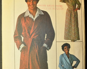Men's Robe Size Small Vintage 1970s Sewing Pattern-Simplicity 7741