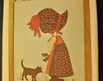 Holly Hobbie Transfer for Wall Hanging Uncut Vintage 1970s Sewing Pattern- Simplicity 6544