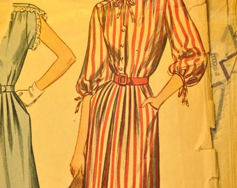 Misses' and Women's One-Piece Dress Size 14 Vintage 1940s Sewing Pattern-Simplicity 2032