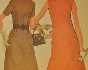 Misses' Dress in Two Versions Size 12 Bust 34 Vintage 1960s Sewing Pattern-McCall's 9375