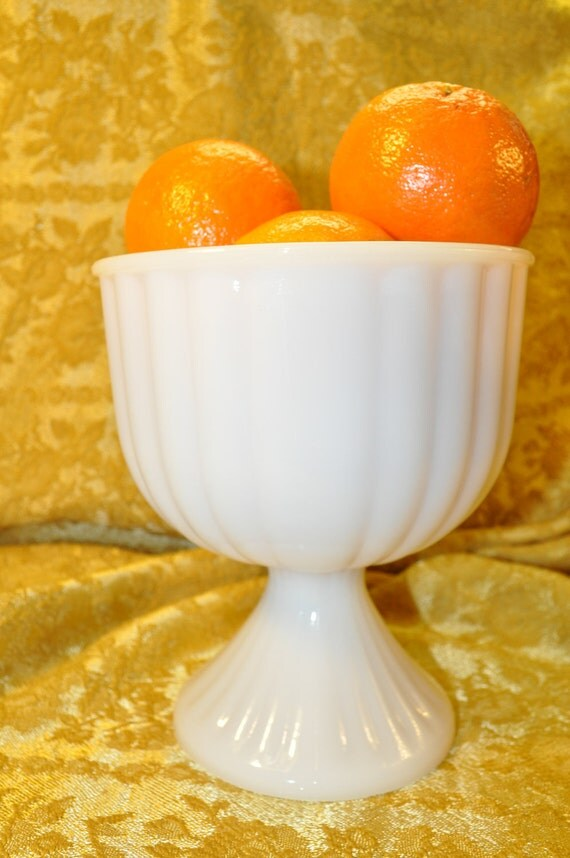 Vintage Milk Glass Planter- for Wedding Reception, Bridal or Baby Shower, Special Celebrations