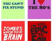 Funny Trendy Phrases scrabble tile Digital Collage Sheet  .75 x.83 scrabble tile size (120)