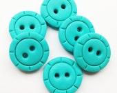 """Round Craft Buttons polymer clay handmade buttons CHOOSE COLOR ( 3/4"""")"""