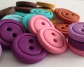 "5 x Colorful Buttons - CHOOSE COLOR ( 3/4"")"