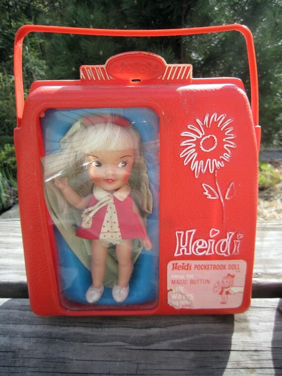 Vintage 1960 s Heidi Doll with Case by Remco-Working