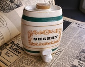 Vintage Sherry Barrel Royal Victoria Wade England Pottery 500ml