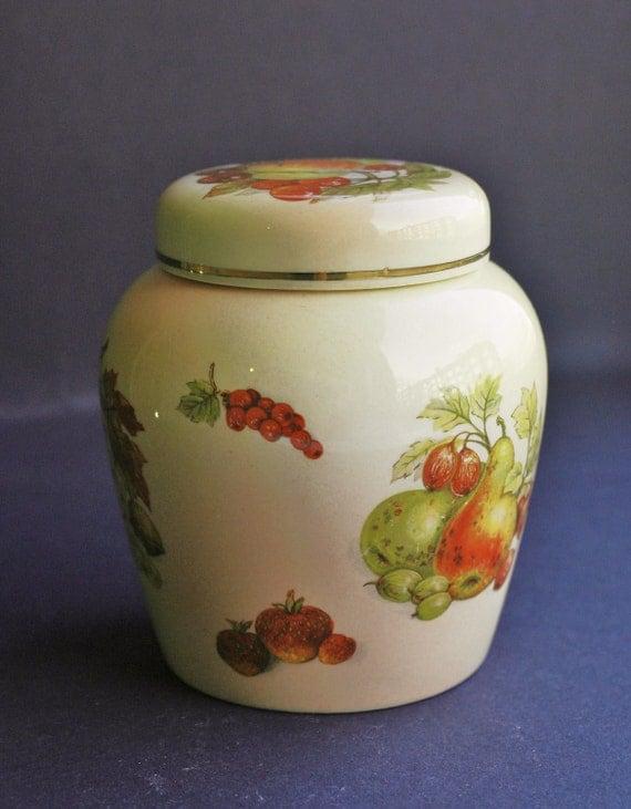 Royal Worcester  China Porcelain Honey Sugar Jam Canister