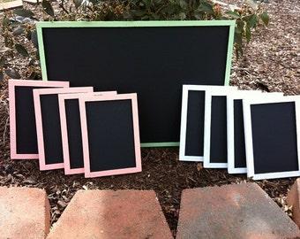 Wooden Chalk Board - Wedding Decoration - Shabby Wedding Decor -  Wedding Sign Bar Chalkboard Set - Restaurant Chalkboard - Bar Chalk Board