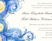 Starry Night DIGITAL wedding invitation (Van Gogh)