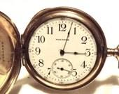 Antique Waltham Pocket Watch/ 17 Jewel/ Gold Filled