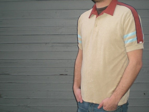 vintage 70s shirt in terry cloth from Alfie California. size large