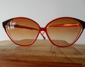 Vintage BALENCIAGA Retro Red and Black Sunglasses