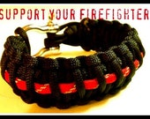 Support A Firefighter Bracelet  ( Support A Hero ) (ready to ship)