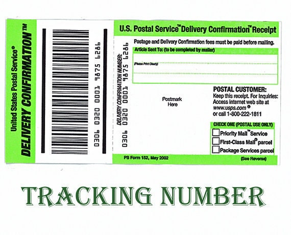 Items similar to USPS Delivery Confirmation Tracking ...