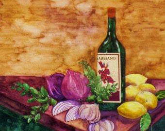 Wine Bottle Still Life
