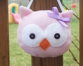 Pink Owl Toothfairy Pillow