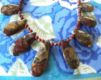 Colorful jasper necklace